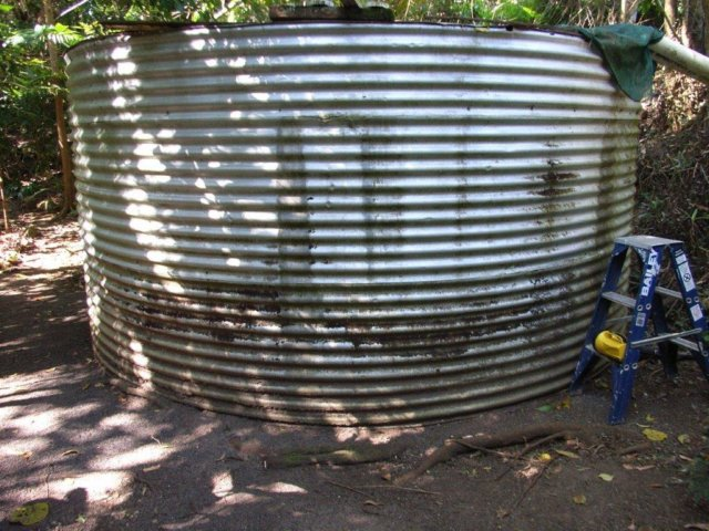 A steel tank in need of repair